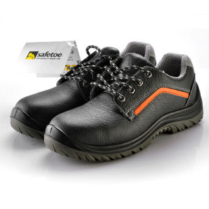 Embossed Leather Safety Shoes for Workers L-7199 pictures & photos