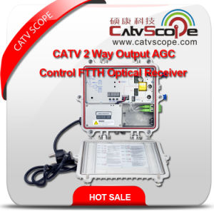 Professional Supplier High Performance CATV 2way Output Agc Control FTTH Optical Receiver pictures & photos