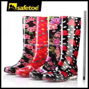 Stylish Lady Rain Boots Beautiful Women Rain Boots W-6040 pictures & photos