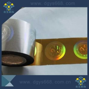 Custom High Quality Gold Hot Stamping Hologram Foil for Card pictures & photos