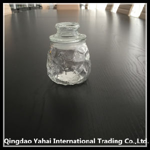 220ml Oval Glass Storage Bottle with Glass Lid pictures & photos