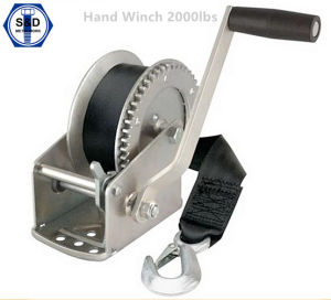 Hand Winch 2000lbs with Cable and Removable Handle