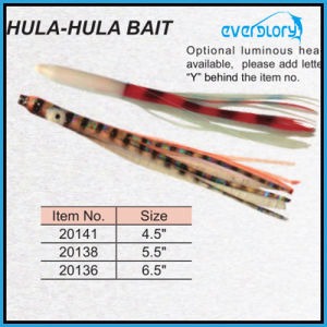 Hula Hula Bait Octopus Fishing Tackle (Luminous head avaiable) pictures & photos