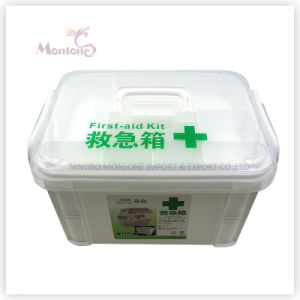 34*20*22cm Household Storage Medicine Chest, Plastic First-Aid Kit pictures & photos