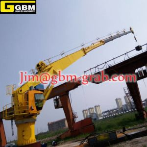 3t40m Telescopic Boom Crane Ship Crane Marine Deck Crane pictures & photos
