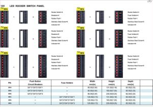 5 Way Switch, RV Modified Combination on Aluminium Panel pictures & photos