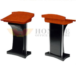 Office Meeting Hall Modern Wooden Speech Table (HY-NNH-E08) pictures & photos