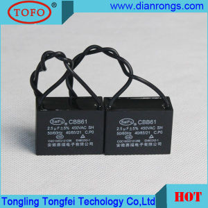 Cbb61 Air Conditioner Capacitor 400VAC 500VAC for Fan Parts pictures & photos