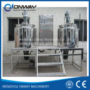 Pl Stainless Steel Jacket Emulsification Mixing Tank Oil Blending Machine Mixer Sugar Solution Vacuum Emulsifier Homogenizing pictures & photos