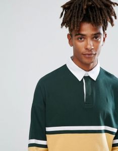 Men′s Contrast Panelling Polo Shirt pictures & photos