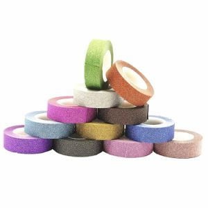 Holiday Rainbow Glitter Sparkle Decorative Washi Masking Sticky Adhesive Tape pictures & photos