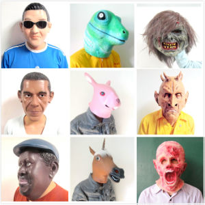 Cosplay Halloween Horse Head Brown White Latex Animal Party Costume Masks pictures & photos