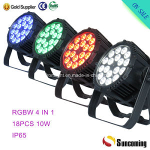 IP65 LED PAR Lighting 18*10W RGBW LED PAR 64 pictures & photos