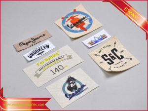 Clothing Printing Label Cotton Fabric Printed Label pictures & photos