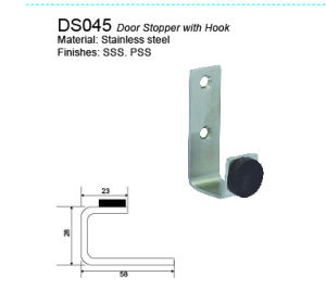 Stainless Steel Door Stopper Rubber Stopper with Hook pictures & photos