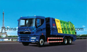 Professional Supply HOWO Compression Garbage Truck with Different Tank Size pictures & photos