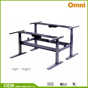 Two Motor Three Parts Electric Double Sides Height Adjustable Desk (OM-03E-DB) pictures & photos
