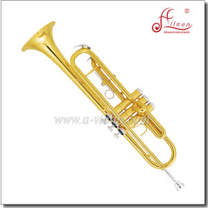 Bb Key Cupronickel Plated Piston Yellow Brass Jinbao Trumpet pictures & photos