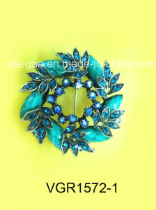 New Ladies Fashion Alloy Rheinstone Crystal Brooch