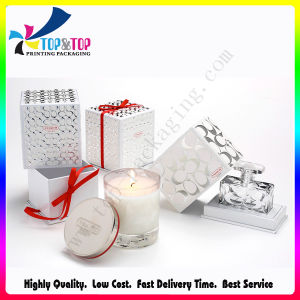 OEM Design Silver Color Paper Printing Candle Gift Box pictures & photos