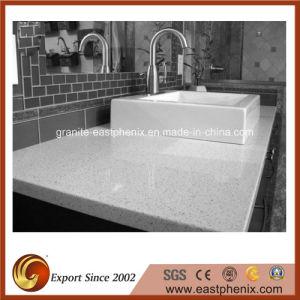 Solid Surface Sparkle Quartz Stone Bathroom Countertop pictures & photos