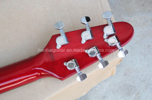 Hanhai Music / Red Electric Guitar with Black Pickguard pictures & photos