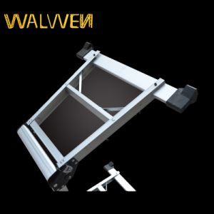 Multi-Purpose Telescopic Aluminum Work Platform Ladder pictures & photos