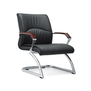 Black Bonded Leather Visitor Chair Meeting Chair for Sale (HY-128H) pictures & photos