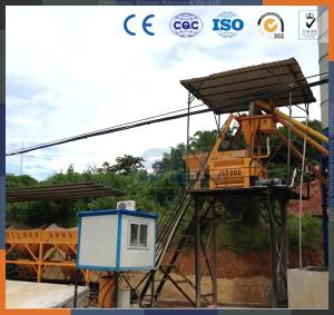 Movable Foam Wet Cement Concrete Batching Plant with Cement Mixer pictures & photos