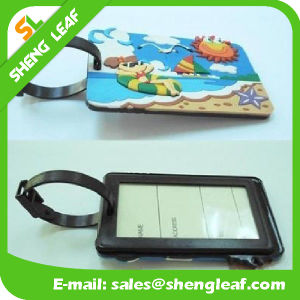 Traveling Soft PVC Rubber Luggage Tag (SLF-LT075) pictures & photos