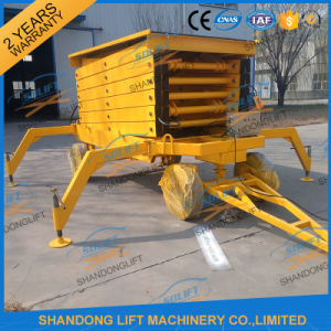 12m 500kg Mobile Scissor Lift Tables Electric Hydraulic Motor Lift pictures & photos