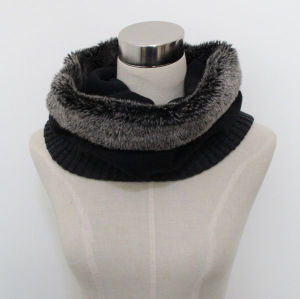 Lady Faux Fur Acrylic Knitted Fashion Infinity Scarf (YKY4388) pictures & photos