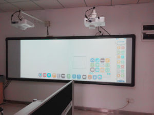 135inches Infrared Interactive Whiteboard, Single Projector, Middle Screen Touching pictures & photos