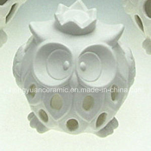 White Hollow out Owl Ornament, Small Night Light, Candle Holder, Ceramic, pictures & photos