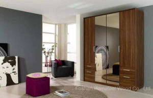 Classic Design Wooden Wardrobe Cabinet with Mirror (HF-EY090411) pictures & photos