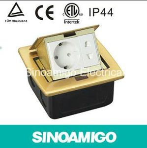 Schuko Socket Under Ground Brass Cover Electrical Socket pictures & photos