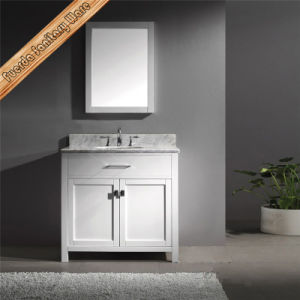 Fed-1057 72inch Double Sinks Carrara White Marble Top Espresso Bathroom Vanity Combo pictures & photos