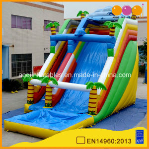 Jungle Inflatable Double Lane Water Slide for Commercial Use (aq1048) pictures & photos