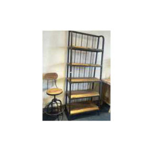 Chinese Metal & Wood Shelf Lwd556 pictures & photos