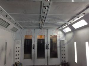 Water Based Paint Spray Booth with Front and Rear Doors Wld8400 pictures & photos