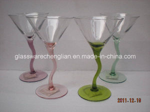 Martini Glass with Colorful Zigzag Stem (B-152abcd) pictures & photos