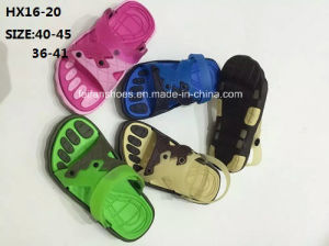 Lady and Men Colorful Casual Summer Beach Slipper Outdoor Slipper PVC Slipper Sandal (HX16-20) pictures & photos