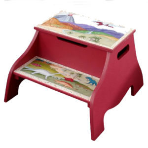 Dinosaur Baby Chair Kids Step Stool with Storage (BS-02) pictures & photos