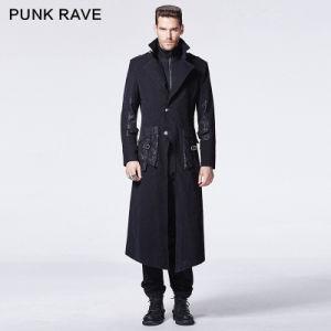 2015 Autumn New Design Punk Rave Black Man Coat (Y-595) pictures & photos