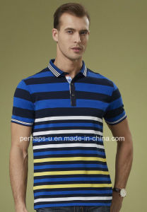 News Design Mens Colorful Stripe Polo Shirt pictures & photos