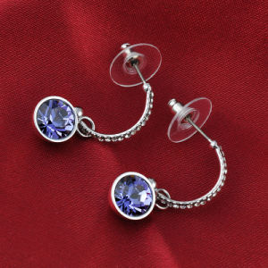 Elegant Purple Amethyst Crystal Rhinestone Pendant Jewellery Drop Earring pictures & photos