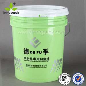 Green Airtight 18L Paint Bucket with Silk Screen Printing pictures & photos