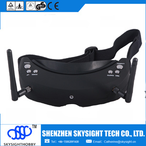 Fpv Goggles 3D Video Glasses Aerial Video Head Tracing, HDMI Input and DVR Record (black color)