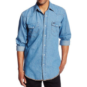 Mens Dress Basic Shirts Denim Fashion Casual Slim Fit Shirts pictures & photos