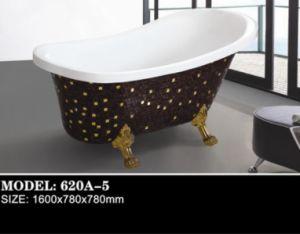 2015 Exquisite Manual Paste Mosaic Acrylic Bath Tub (620A-5) pictures & photos